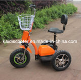 Un motorino Zappy elettrico delle 3 grandi rotelle con la sospensione posteriore Roadpet