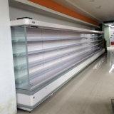 Il montante caldo di Commerical di vendita beve il frigorifero del supermercato