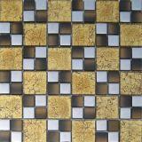 建築材料の金ホイルのガラスモザイク(VMW3204、300X300mm)