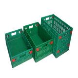 La caja plegable de plástico para las verduras y frutas