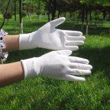13 вкладыша полиэфира датчика перчатки белых белых покрынных PU работая