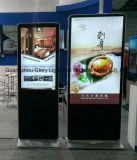 두 배 측 LCD 광고 선수를 서 있어 공기 포트 각자
