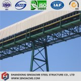 Estructura de acero del transportador para la central eléctrica