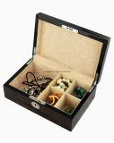 Отделки рояля лоска чёрного дерева коробка подарка хранения ювелирных изделий высокой деревянная