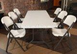 Großhandelsesszimmer-Möbel-weiße Plastikklapptische und Stühle