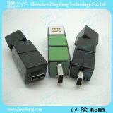 Movimentação Cuboid plástica do flash do USB da forma do fechamento de combinação (ZYF1817)