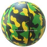 تمويه تصميم مطّاطة مادّيّة كرة سلّة حجم 7