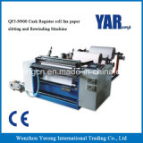 Máquina de papel el rebobinar del buen del precio que raja de la caja registradora fax del rodillo para la venta