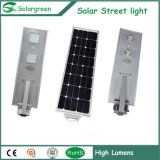 100W Mobile Control New Technology All-in One Solar Street Light