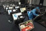 Bekanntmachen des LCD-Bildschirmanzeige-Fußbodens, der 55 Zoll-Screen-Kiosk steht