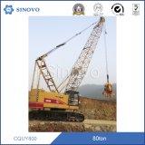 Grue de chenille de levage hydraulique du matériel CQUY800