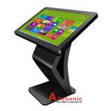디지털 Signage 대화식 Touchscreen 모니터 간이 건축물을 서 있는 50 인치 LCD 지면