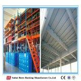 Plataforma do mezanino da construção de aço do armazenamento do armazém