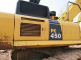 Excavador japonés usado muy bueno KOMATSU PC450-7 (material de la correa eslabonada hidráulica de las condiciones de trabajo de construcción) para la venta