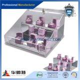 De kleinhandels AcrylTribunes van de Vertoning van het Product van de Tribunes van de Vertoning Kosmetische