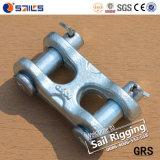 Geschmiedete Doppelgabelkopf-Links der Stahlkettenverbinder-S249