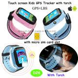 Nueva llamada de emergencia SOS Kids reloj GPS Tracker (D26).