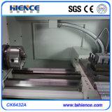 Torno barato do CNC do corte do metal com o trilho de guia linear Ck6432A