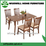 5PC juego de mesa de comedor de madera de pino