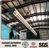 Tubo galvanizado, tubo de acero galvanizado de la INMERSIÓN caliente, tubo galvanizado del hierro