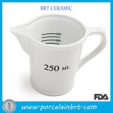 HandleまたはSpoutの卸し売りWhite Ceramic 250ml Measuring Cup