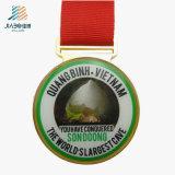 Nuovo medaglia a resina epossidica su ordinazione di Veitnam placcata della stampa dei prodotti di disegno oro