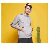 Maglietta felpata in bianco 100% del cotone unisex con tiro del cappuccio sopra Hoodie