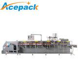 Angle horizontal Doypack de remplissage automatique de pochette de la tuyère d'huile/beurre/poudre/Liquides/yaourt/machine de conditionnement d'emballage de jus