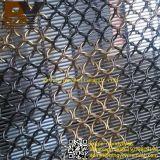 De Gordijnen van het Netwerk van het Metaal van de Ring van het roestvrij staal