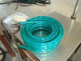 Boyau de jardin renforcé tressé par fibre flexible de boyau de pipe d'irrigation de l'eau de PVC de plastique