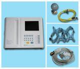 Electrocardiógrafo-Contec certificado Ce da máquina da canaleta ECG/EKG de Digitas 12