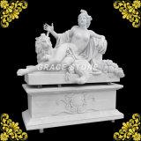Statue en marbre naturel avec grande base
