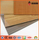 El PE de Brokencore del precio de fábrica cubrió el panel compuesto de aluminio del final de madera