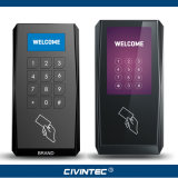OEM Osdp RS485 RFID Contrôle d'accès Lecteur de carte à puce avec écran tactile ou clavier OLED Reader