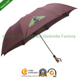 Grande Automatic Two Folding Golf Umbrella con Customized Logos (FU-2828BA)