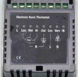2 Rohr-Zeit-Einstellungs-Funktions-Raum-Thermostat mit IR-entfernter Station