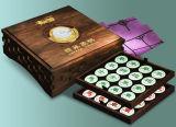 Caixa de presente de armazenamento de xadrez chinesa de madeira high-end