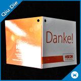 Zwei Stücke Seiten-Karten-Fall-versieht Gruß-Karte für förderndes mit Warnschild