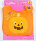 OEMの農産物はデザインアップリケの綿のテリーによって刺繍された昇進の赤ん坊の胸当てをカスタマイズした