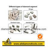 El segmento de hoja de sierra de diamante