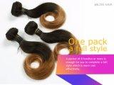 매끄러운 똑바른 직물 8 인치 브라운 색깔 브라질 Virgin 머리