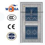 Galvanisierte Edelstahl-Eingangs-Sicherheits-Stahlglastür (W-GH-27)