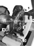 1224 de Alta Effeciency Roscadora Sq100f 4 '' Roscado de Tubos Máquina