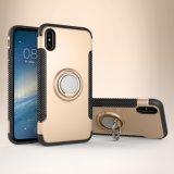 Anel do dedo de sucção magnético à prova caso telefone para Xiaomi para iPhone com anel de metal SUPORTE TELEFONE