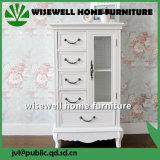 (W-B-A1020)旧式な白4の引出しの整理箪笥