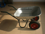 Carrinho de mão de roda de construção galvanizado da carga 130 (WB6410)