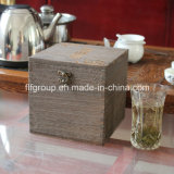 Pintura de mão personalizada Caixa de madeira sólida para decoração de casa