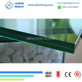 5+3.8+5 13.8mm明確な青緑の灰色の青銅色のハリケーンの薄板にされたガラス