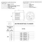 Tasto di calcolatore d'ottone standard del cilindro di euro profilo 60 70 80 millimetri