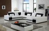 ホーム現代家具の居間の革ソファー